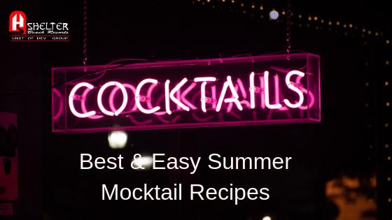 Best & Easy Summer Mocktail Recipes